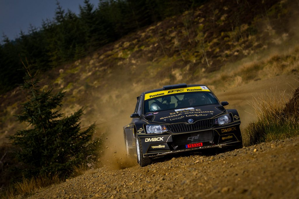 Fredrik Åhlin / Torstein Eriksen, ŠKODA FABIA R5, CA1 Sport. Pirelli Rally 2017