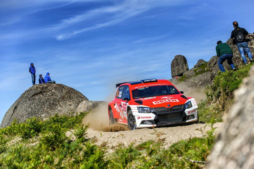 Hubert Ptaszek / Maciej Szczepaniak, ŠKODA FABIA R5, Orlen Team. Rally de Portugal 2017