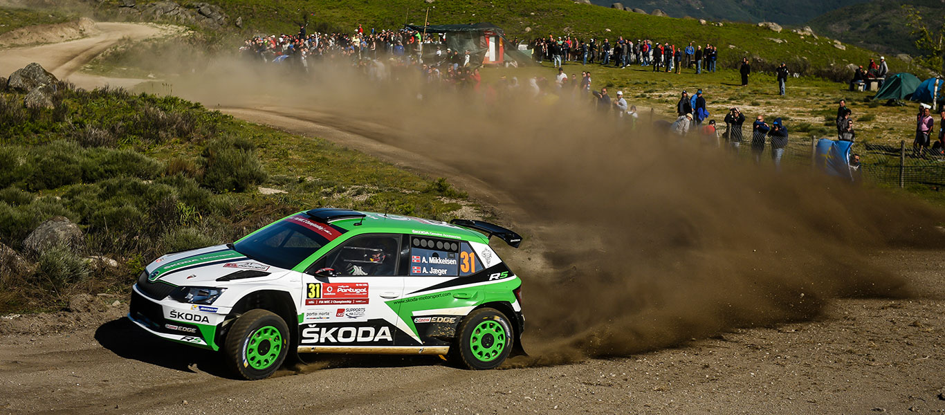 WRC Portugal: Double lead for ŠKODA FABIA R5  with Andreas Mikkelsen and Pontus Tidemand
