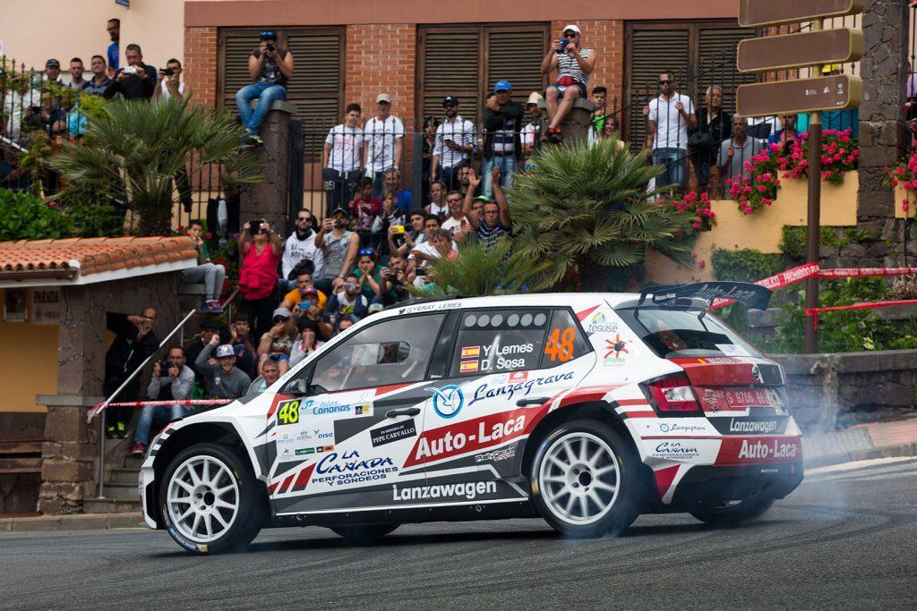 Yeray Lemes / Daniel Sosa, ŠKODA FABIA R5, Auto-Laca Competicion. Rally Islas Canarias 2017