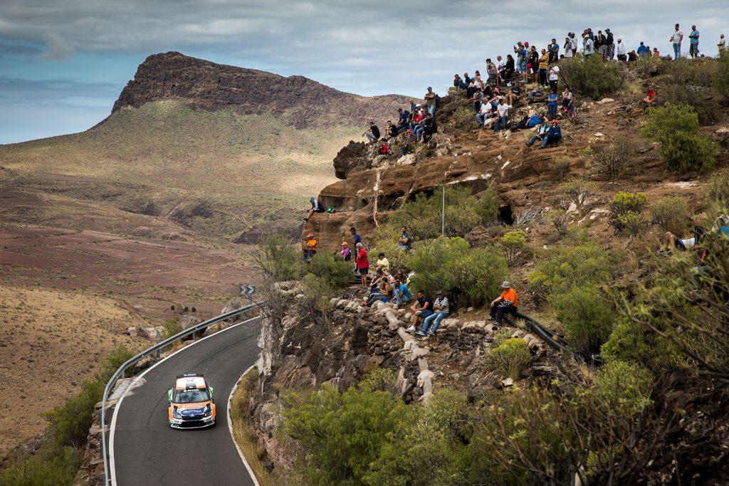 Pedro Burgo / Marcos Burgo, ŠKODA FABIA R5, ACSM Rallye Team. Rally Islas Canarias 2017