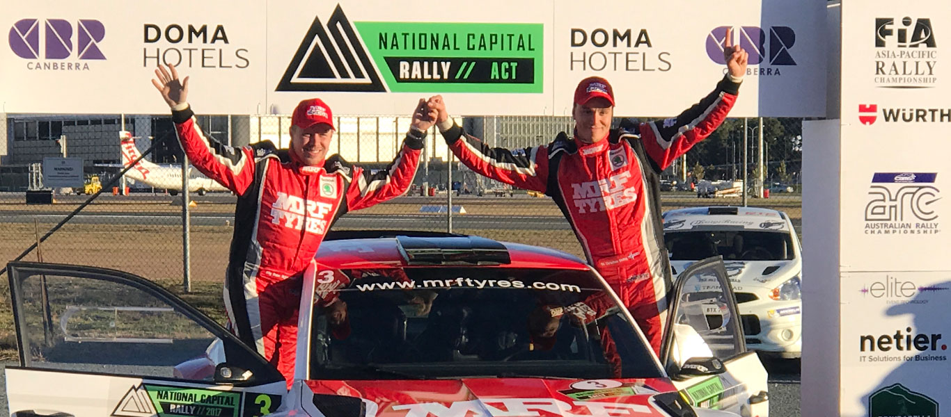APRC Canberra: OC Veiby wins for ŠKODA MRF ahead of teammate Gaurav Gill