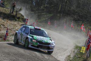 Ole Christian Veiby / Stig Rune Skjærmoen, ŠKODA FABIA R5. Rally Sørland 2017