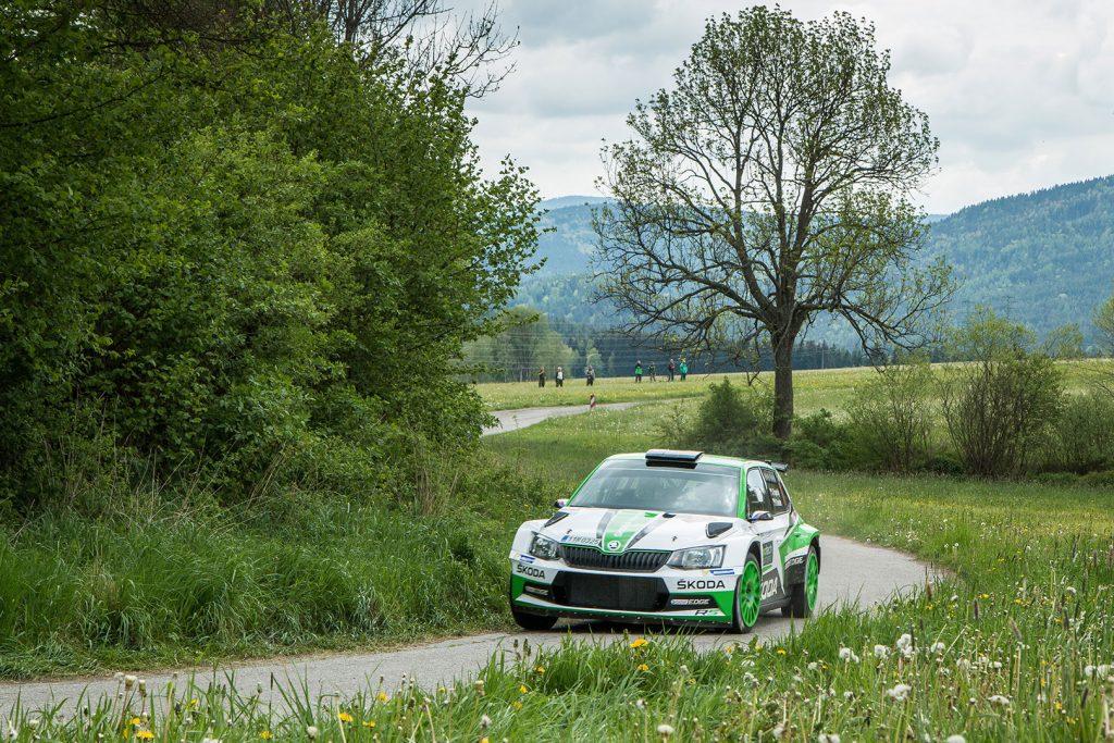 Jan Kopecký / Pavel Dresler, ŠKODA FABIA R5, ŠKODA Motorsport. Rallye Český Krumlov 2017