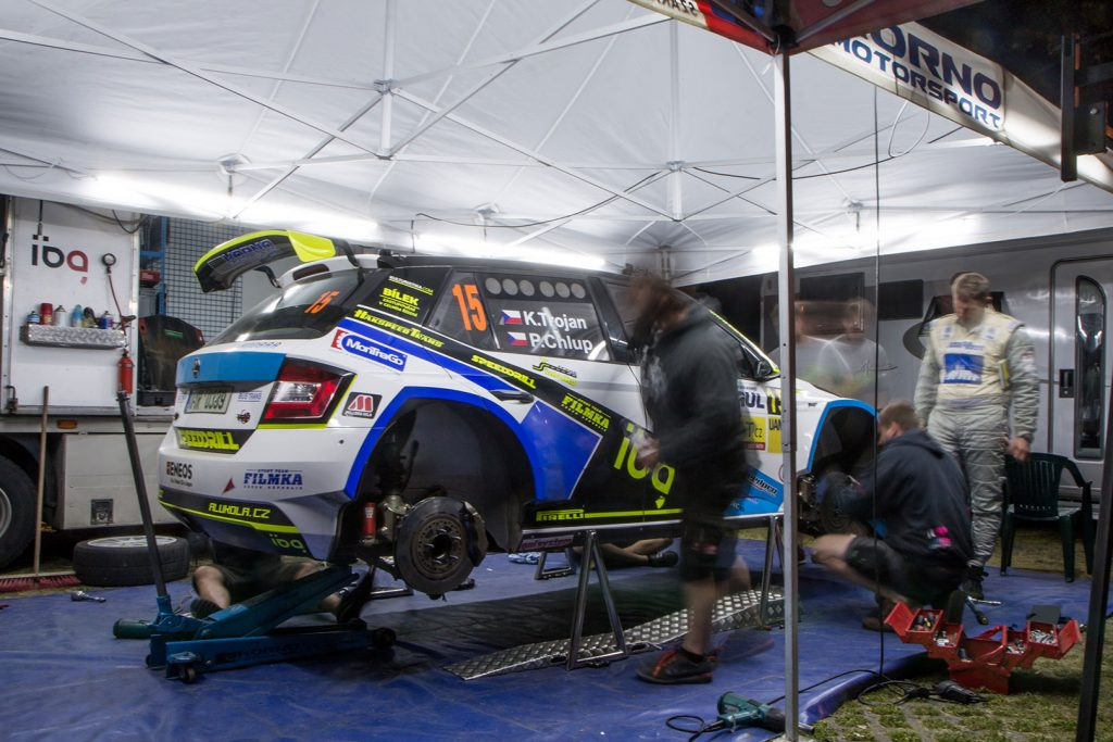 Karel Trojan jun. / Petr Chlup, ŠKODA FABIA R5, Korno Motorsport. Rallye Český Krumlov 2017