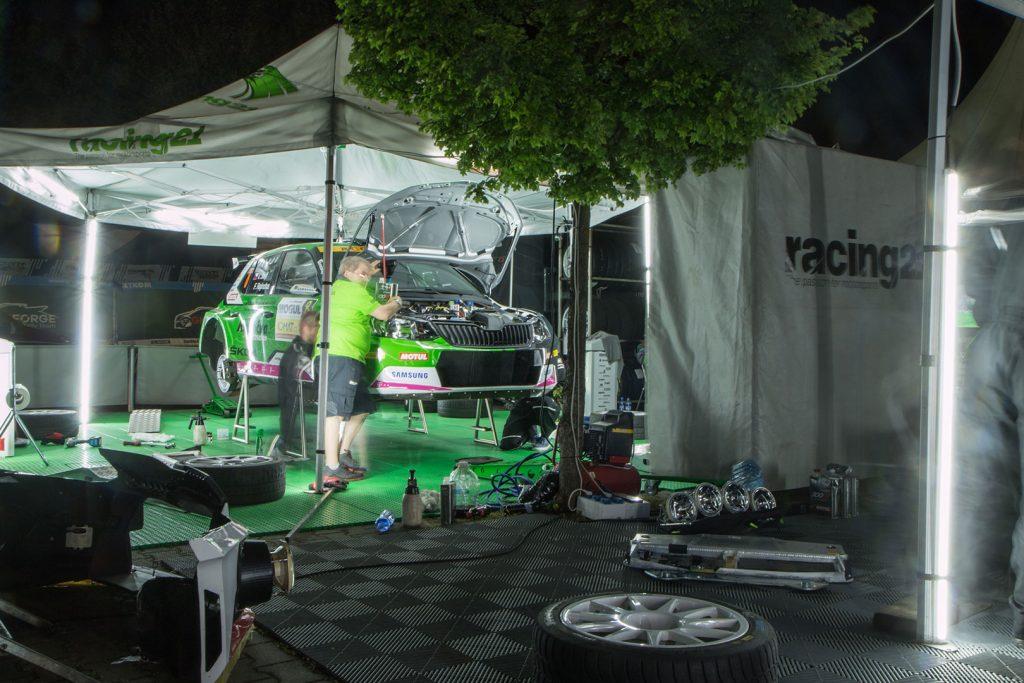Vojtěch Štajf / František Rajnoha, ŠKODA FABIA R5, Klokočka Škoda Czech national team. Rallye Český Krumlov 2017