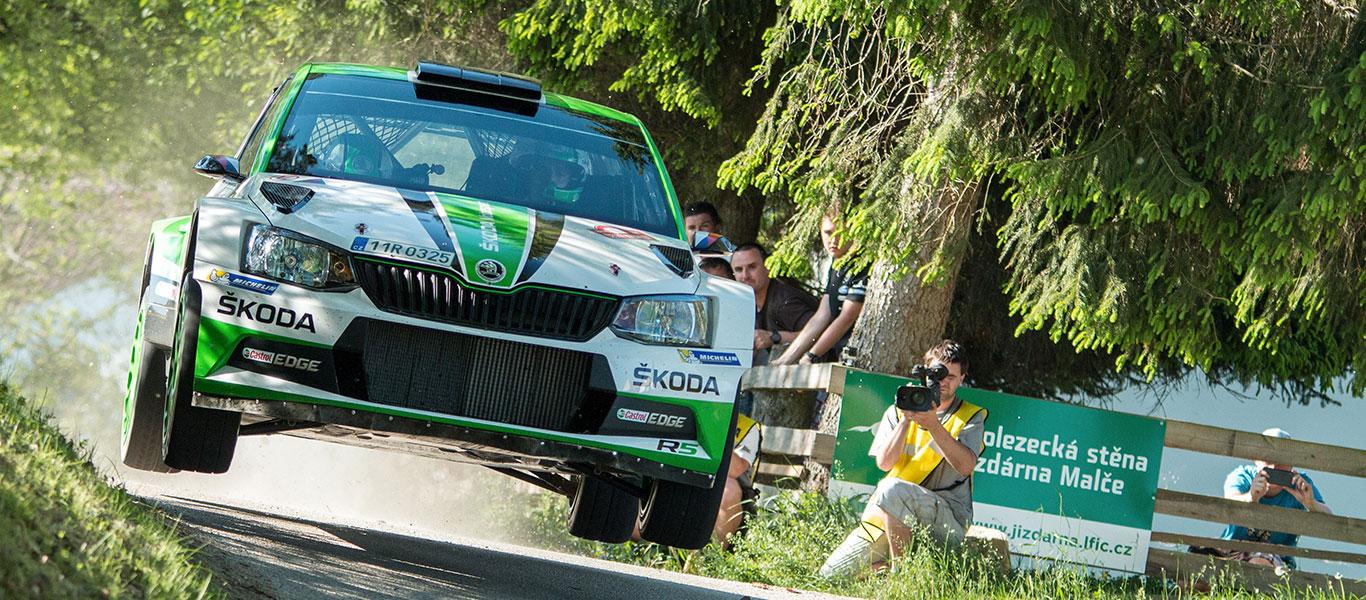 PHOTO: ŠKODA FABIA R5 cars at the 2017 Rallye Český Krumlov