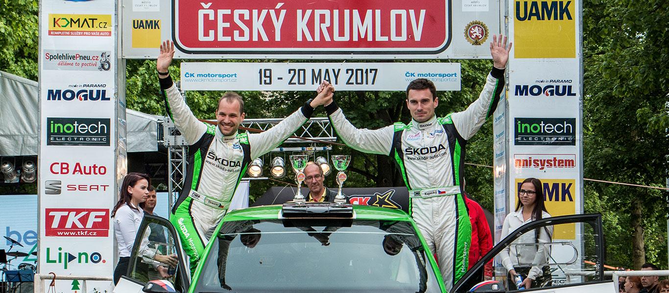 MČR Český Krumlov: Hat-trick win for Jan Kopecký and ŠKODA