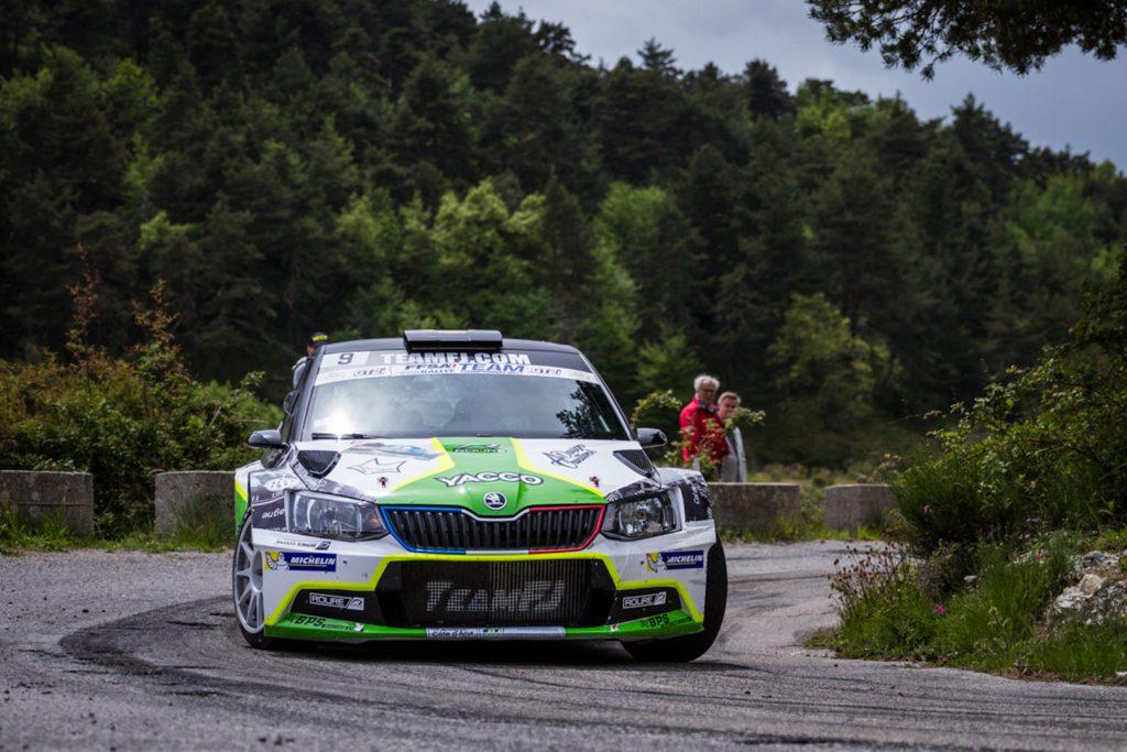Thibault Durbec / Jacques-Julien Renucci, ŠKODA FABIA R5, RTTC – Yacco. Rallye d'Antibes – Côte d'Azur 2017