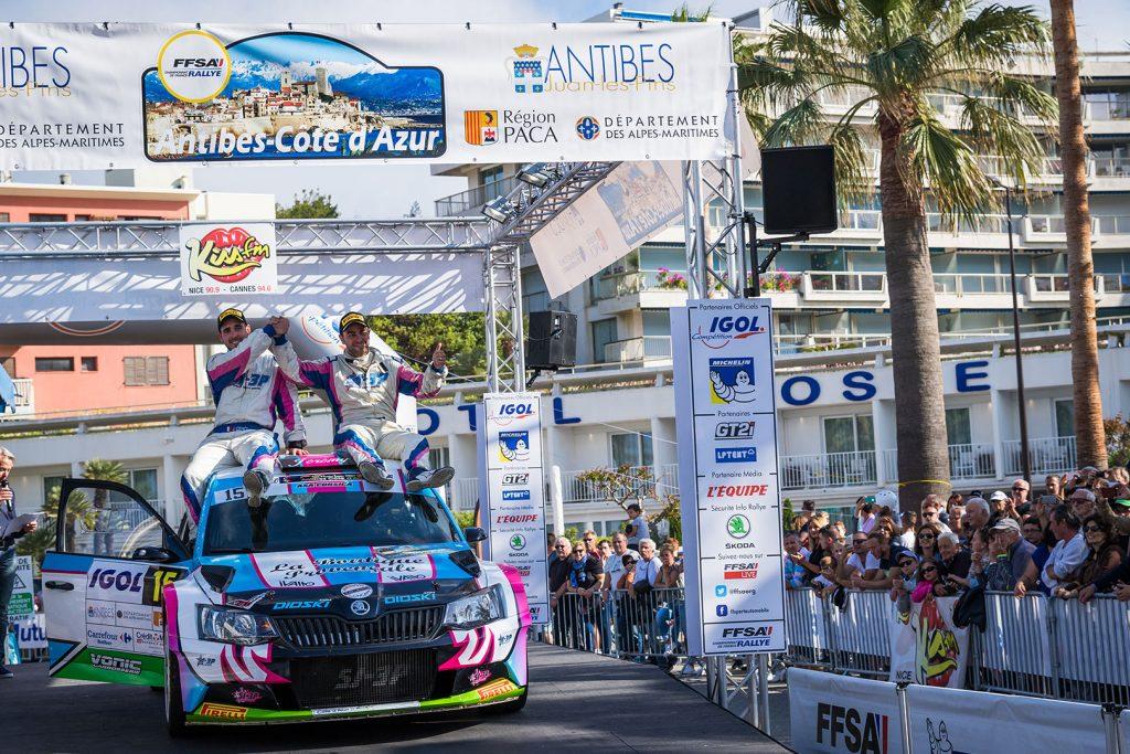 Anthony Puppo / Jérémy Cenci, ŠKODA FABIA R5, Anthony Puppo. Rallye d'Antibes – Côte d'Azur 2017