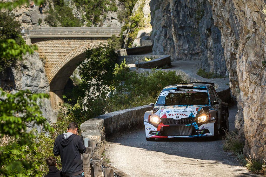 Quentin Giordano / Valentin Sarreaud, ŠKODA FABIA R5, Sébastien Loeb Racing. Rallye d'Antibes – Côte d'Azur 2017