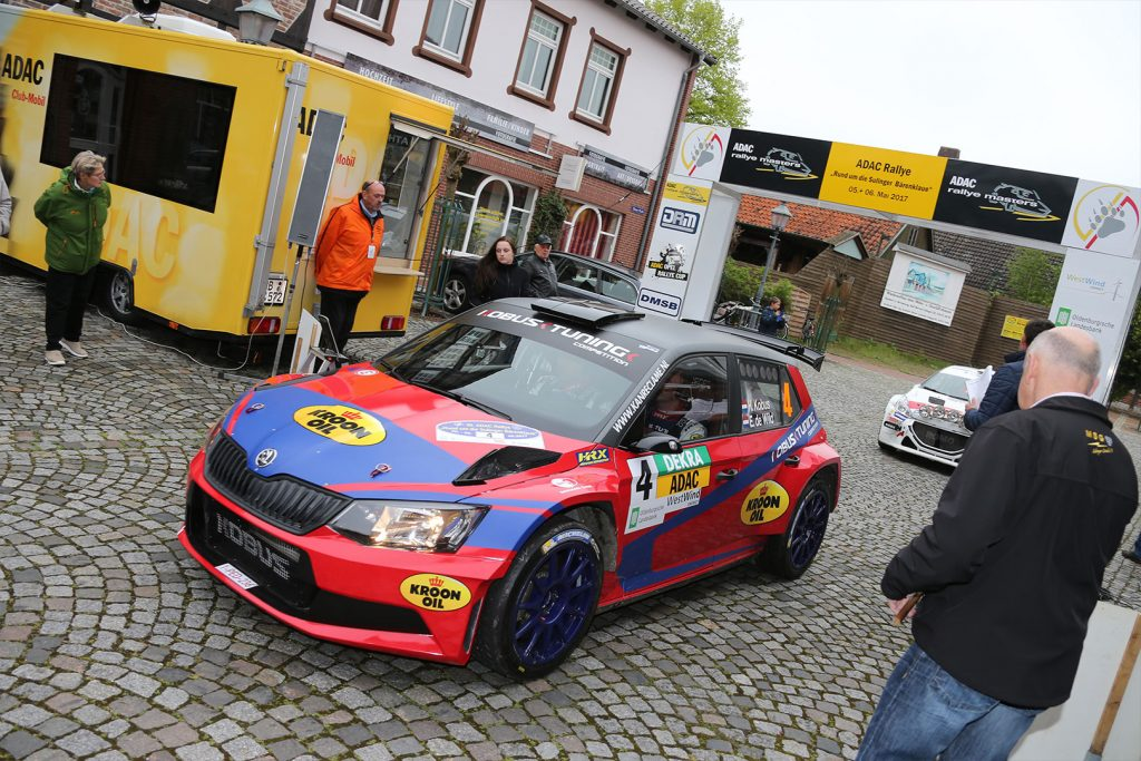 Hermen Kobus / Erik de Wild, ŠKODA FABIA R5, Kobus Tuning. Rallye Sulingen 2017