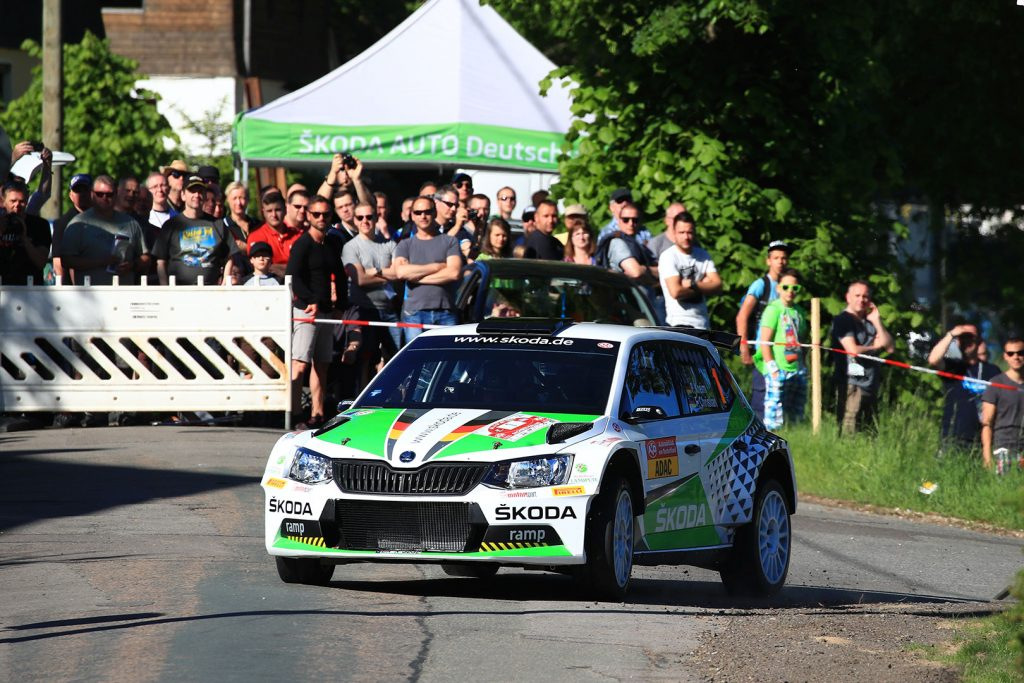 Fabian Kreim / Frank Christian, ŠKODA FABIA R5, ŠKODA AUTO Deutschland. Sachsen Rallye 2017