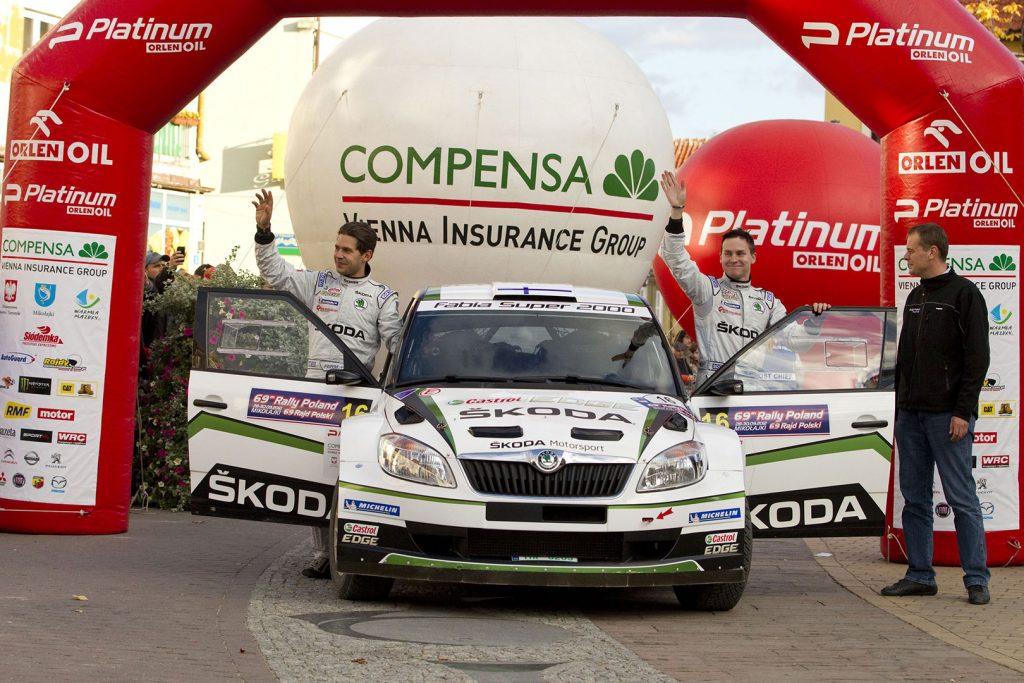 Esapekka Lappi / Janne Ferm, ŠKODA FABIA S2000, ŠKODA Motorsport. Rally Poland 2012