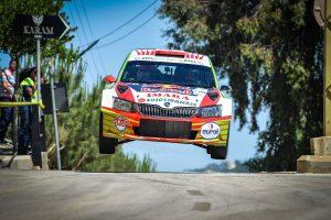 Abdo Feghali / Marc Haddad, ŠKODA FABIA R5. Jezzine Rally 2017 (Photo: biser3a.com - The Action Crew)