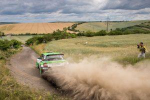 Pontus Tidemand / Jonas Andersson, ŠKODA FABIA R5, ŠKODA Motorsport. Rally Hustopeče 2017