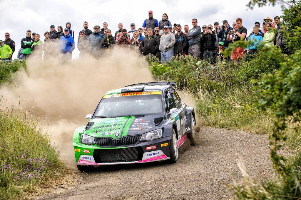Vojtěch Štajf / František Rajnoha, ŠKODA FABIA R5, Klokočka Škoda Czech national team. Rally Hustopeče 2017