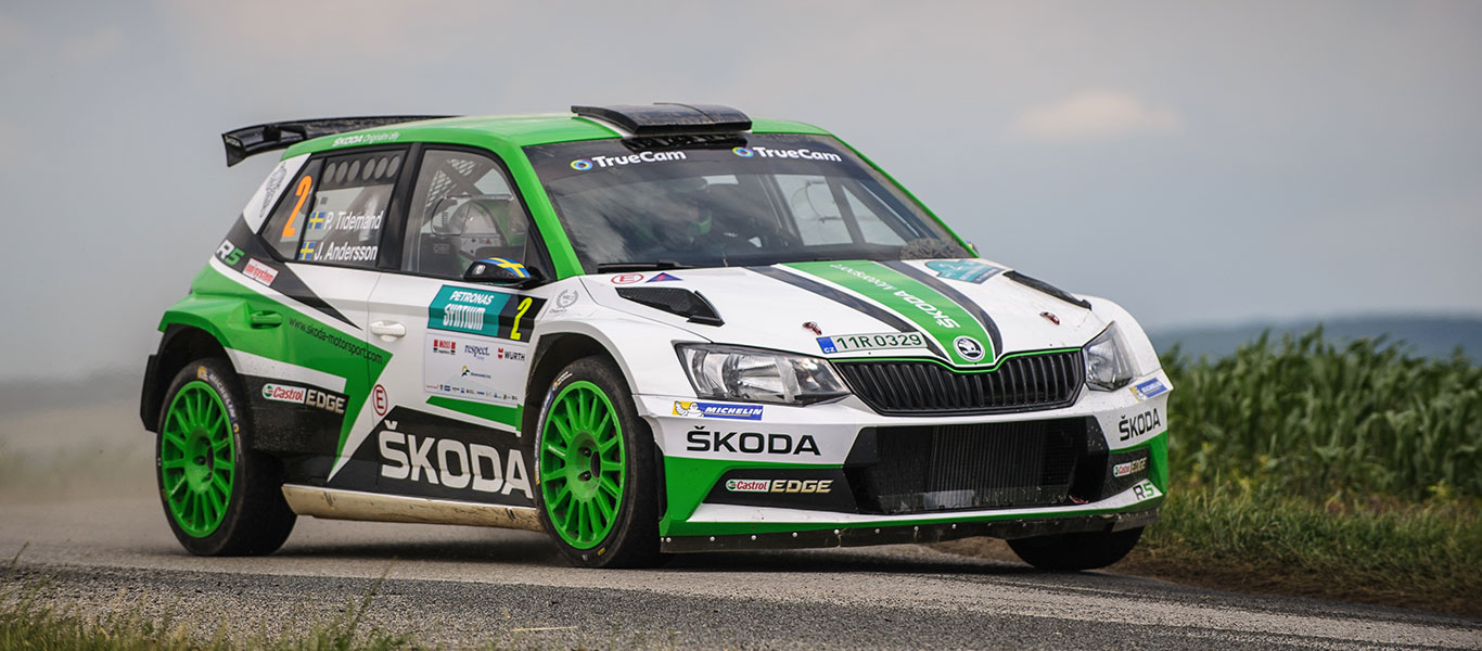 WRC Germany: ŠKODA Motorsport and Pontus Tidemand with match point for title win