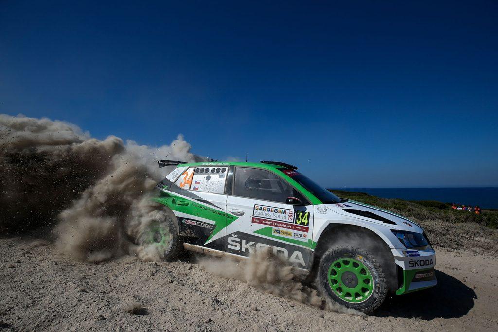 Jan Kopecký / Pavel Dresler, ŠKODA FABIA R5, ŠKODA Motorsport. Rally Italia Sardegna 2017
