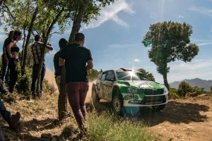 Ole Christian Veiby / Stig Rune Skjærmoen, ŠKODA FABIA R5, Printsport Oy. Rally Italia Sardegna 2017