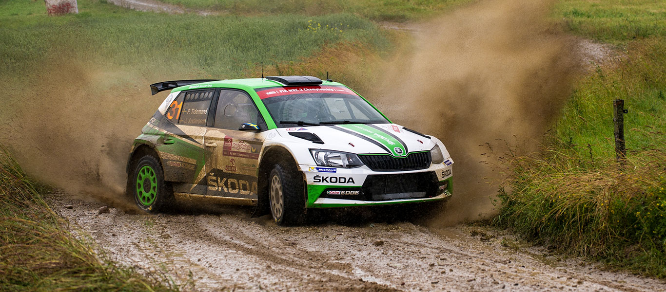WRC Poland: Double lead for ŠKODA in WRC2