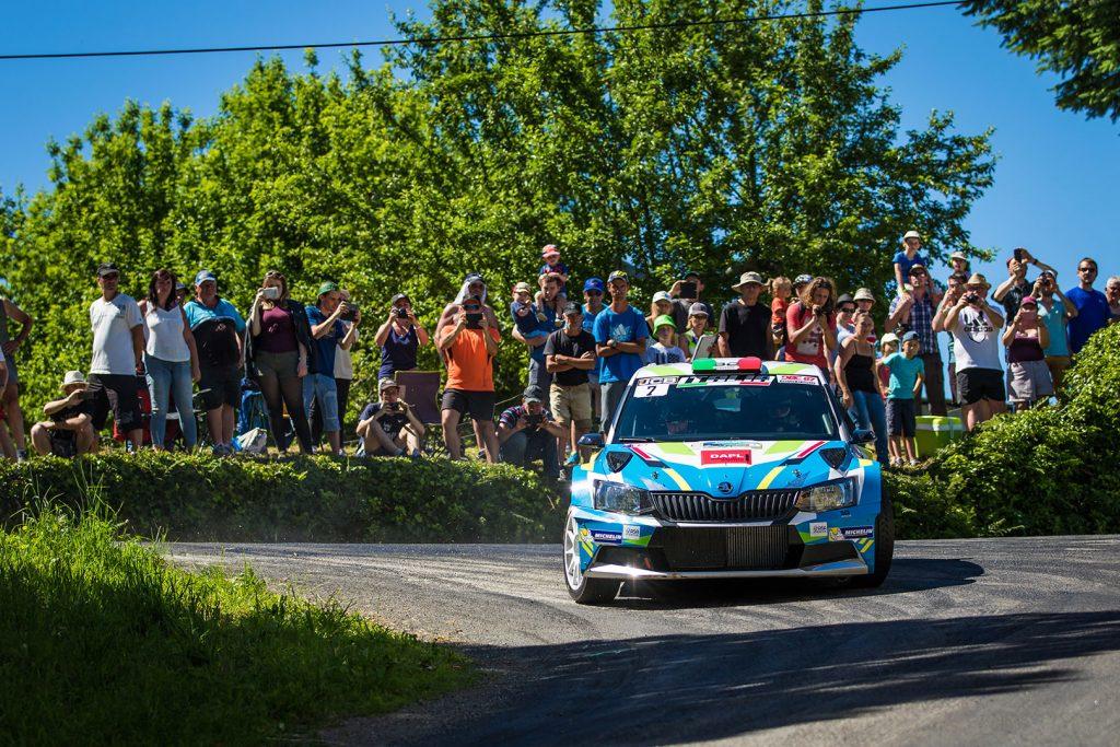 Fabiano Lo Fiego / Romain Roche, ŠKODA FABIA R5, Fabiano Lo Fiego. Rallye du Limousin 2017