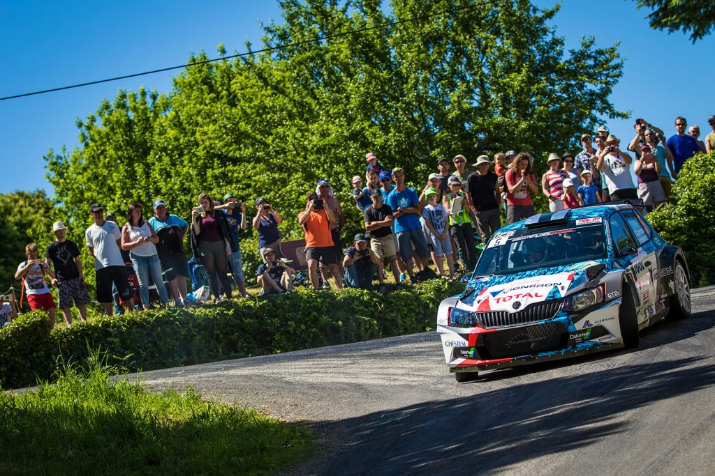 Quentin Giordano / Valentin Salmon, ŠKODA FABIA R5, Sébastien Loeb Racing. Rallye du Limousin 2017