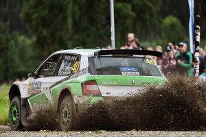 Pontus Tidemand / Emil Axelsson, ŠKODA FABIA R5, ŠKODA Motorsport. Rally Finland 2015