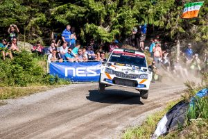 Juuso Nordgren / Mikael Korhonen, ŠKODA FABIA R5, TGS Worldwide OU. Rally Finland 2017