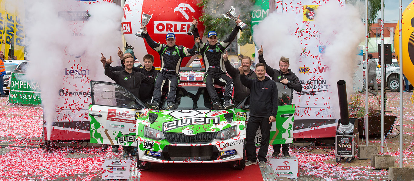 WRC Poland: Veiby victorious as FABIA R5 claims WRC2 '1-2-3-4' result