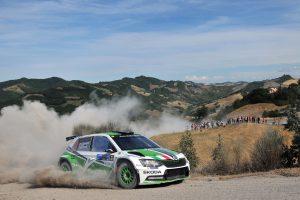 Umberto Scandola / Guido D'Amore, ŠKODA FABIA R5, Car Racing. Rally San Marino 2017