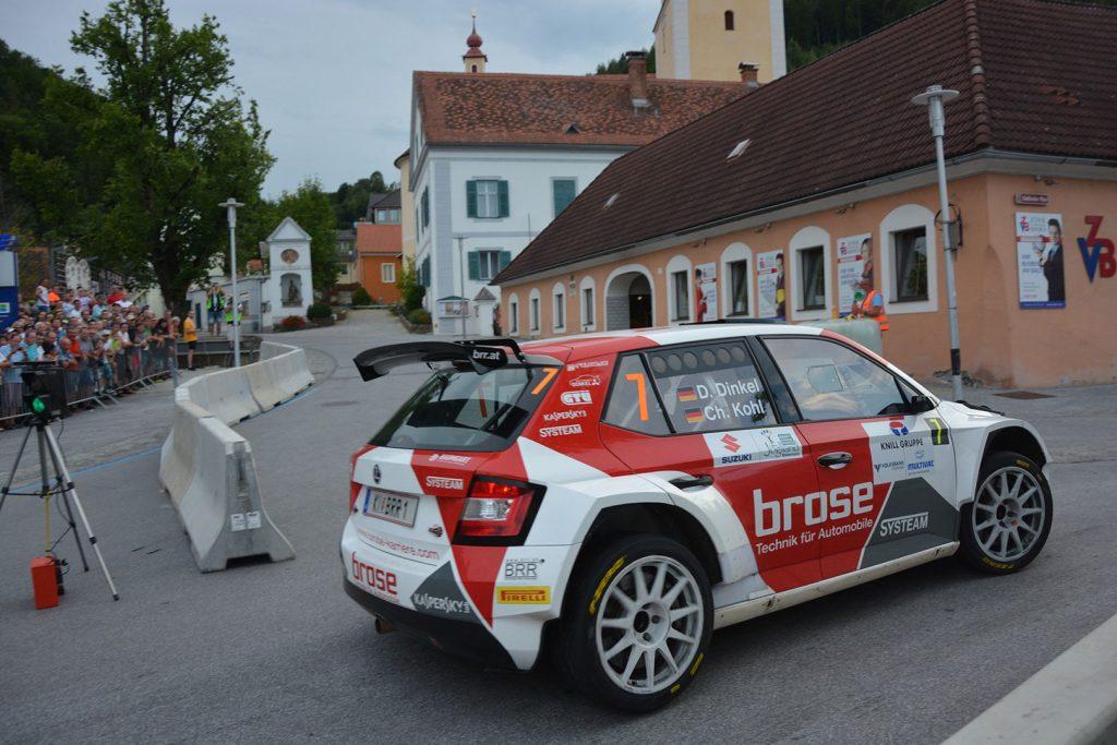 Dominik Dinkel / Christina Kohl, ŠKODA FABIA R5, Brose Motorsport. Rallye Weiz 2017
