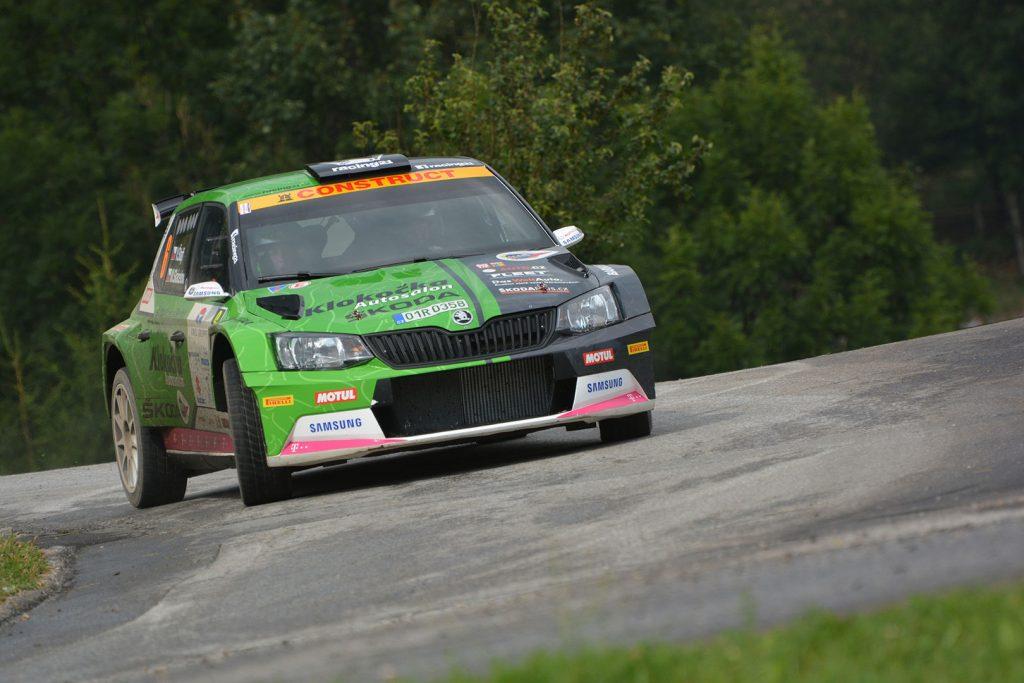 Vojtěch Štajf / Markéta Skácelová, ŠKODA FABIA R5, ACCR Czech Team. Rallye Weiz 2017