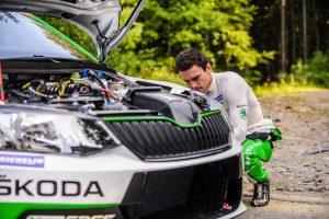 Jan Kopecký, ŠKODA FABIA R5, ŠKODA Motorsport. Barum Czech Rally Zlín 2017