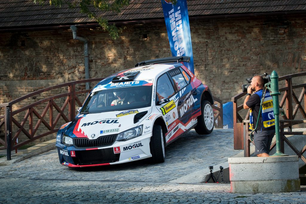Roman Kresta / Petr Starý, ŠKODA FABIA R5, Mogul Racing Team. Barum Czech Rally Zlín 2017