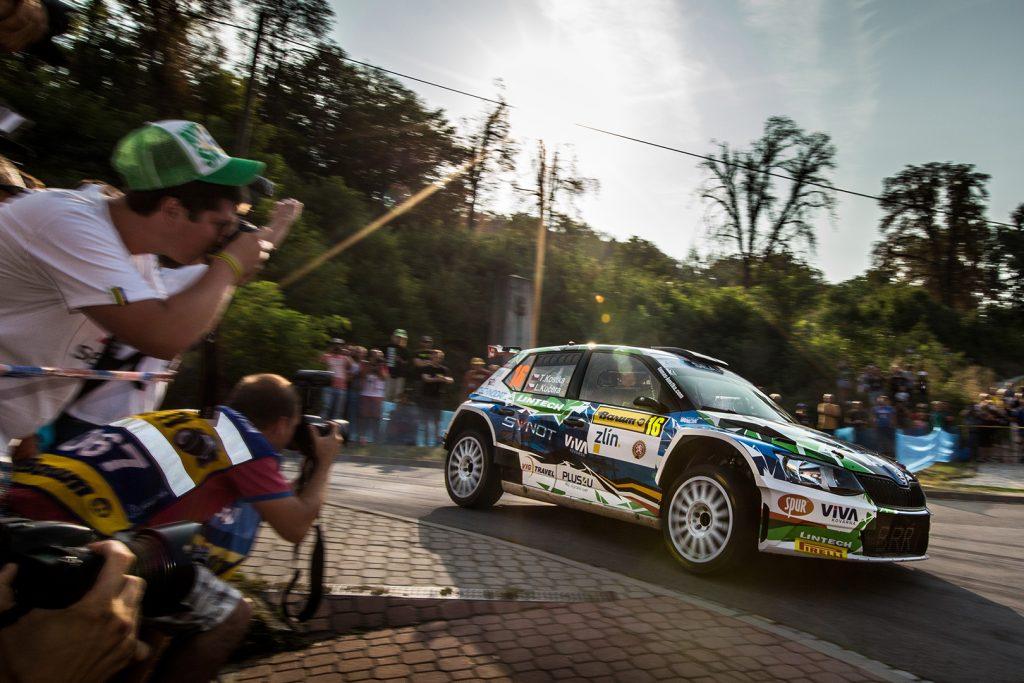 Tomáš Kostka / Ladislav Kučera, ŠKODA FABIA R5, BRR Baumschlager Rallye & Racing Team. Barum Czech Rally Zlín 2017