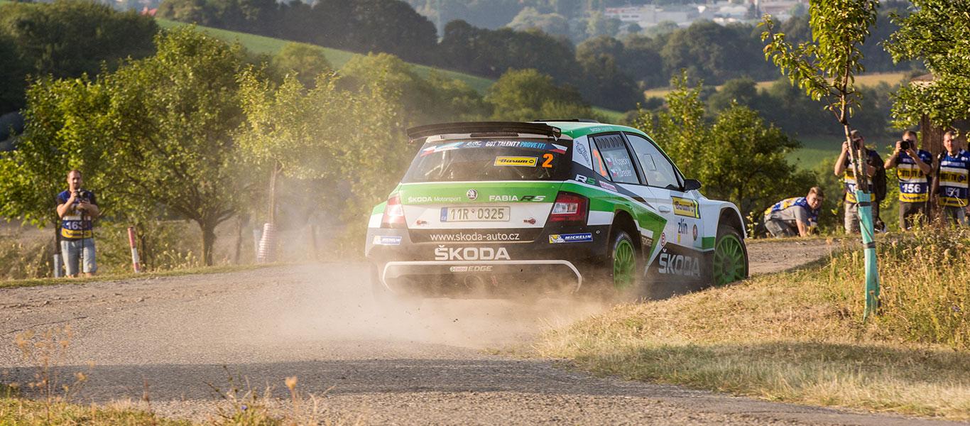 PHOTO: ŠKODA FABIA R5 cars at the Barum Czech Rally Zlín 2017