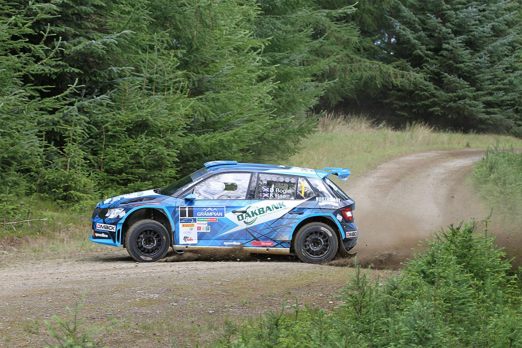 David Bogie / Kevin Rae, ŠKODA FABIA R5, CA1 Sport. Grampian Stages Rally 2017