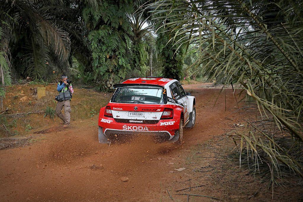 Ole Christian Vieby / Stig Rune Skjærmoen, ŠKODA FABIA R5, ŠKODA Team MRF. Malaysian Rally 2017