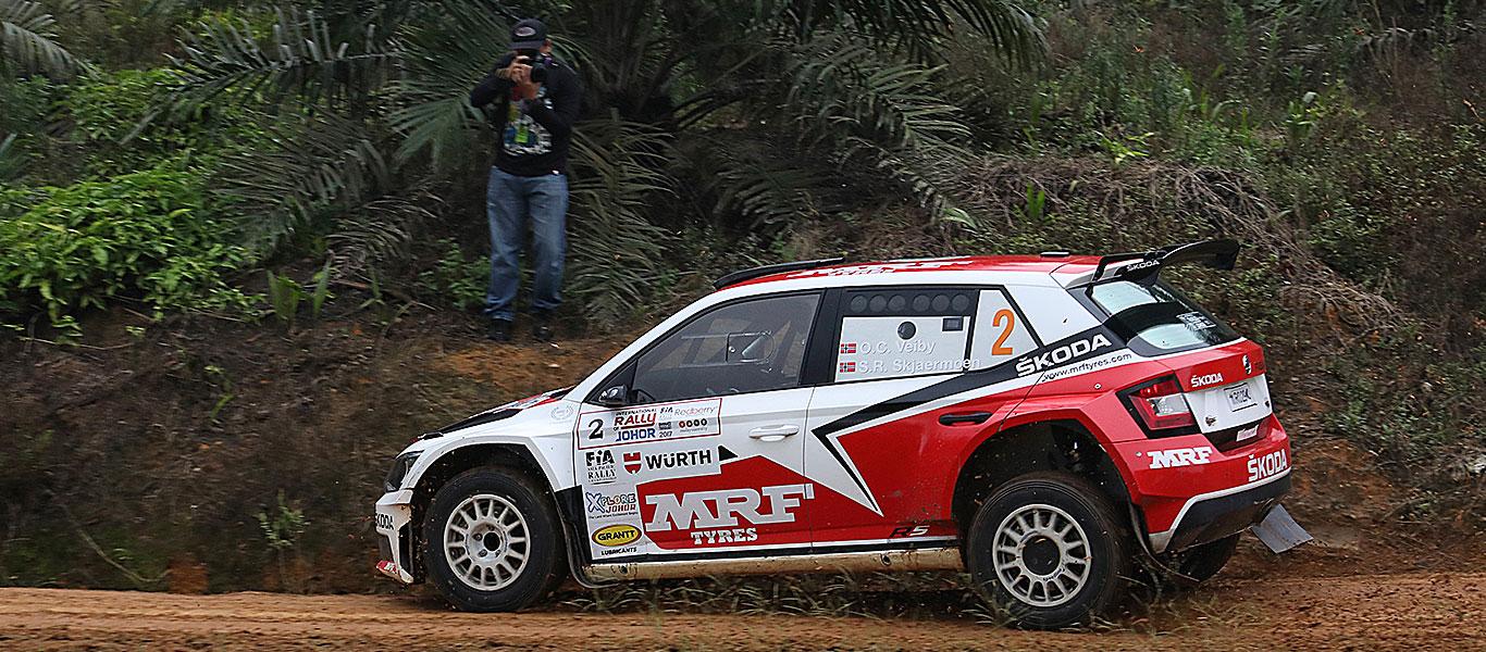 PHOTO: ŠKODA MRF team at the International Rally of Johor 2017