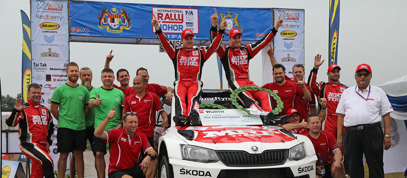 APRC Malaysia: Second win for Veiby ahead of MRF ŠKODA teammate Gill