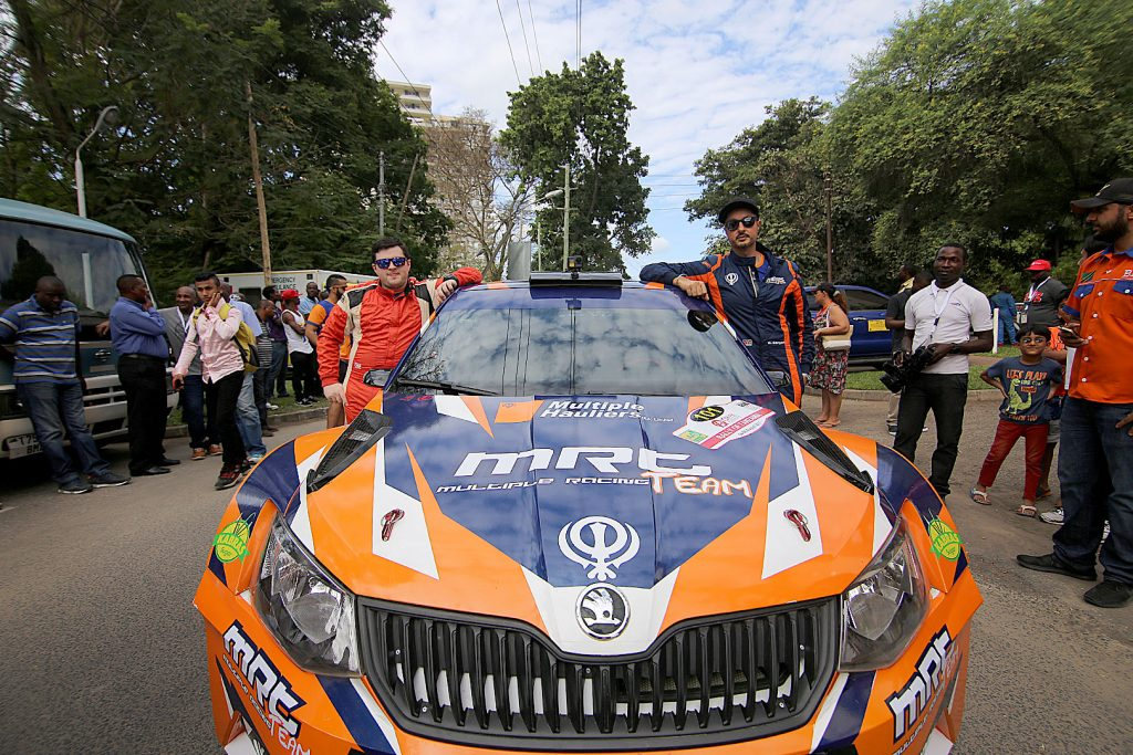 Manvir Singh Baryan / Drew Sturrock, ŠKODA FABIA R5, Multiple Racing Team. Rally of Tanzania 2017 (Photo: Rai Productions)