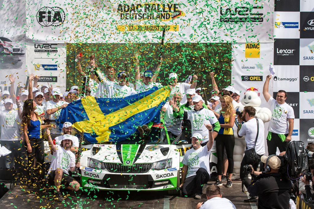 Pontus Tidemand / Jonas Andersson, ŠKODA FABIA R5, ŠKODA Motorsport. Rallye Deutschland 2017