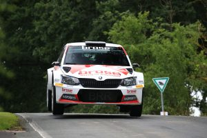 Dominik Dinkel / Christina Kohl, ŠKODA FABIA R5, Brose Motorsport. Thüringen Rallye 2017