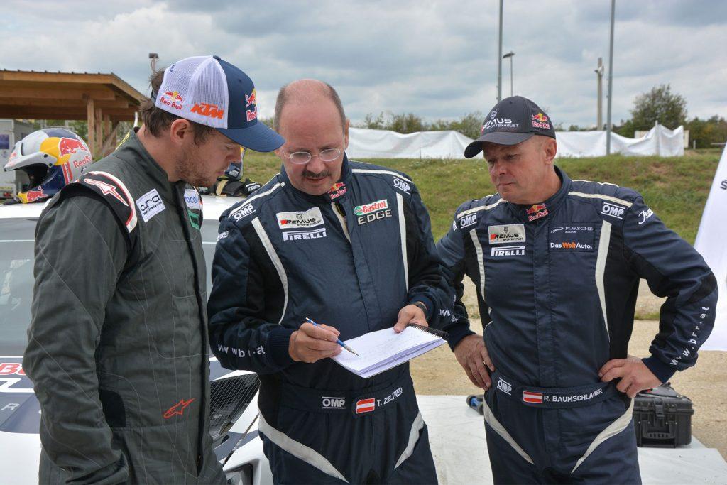 Matthias Walkner / Raimund Baumschlager, Thomas Zeltner, ŠKODA FABIA R5, BRR Baumschlager Rallye & Racing Team. Testování 2017 (Foto: Harald Illmer)