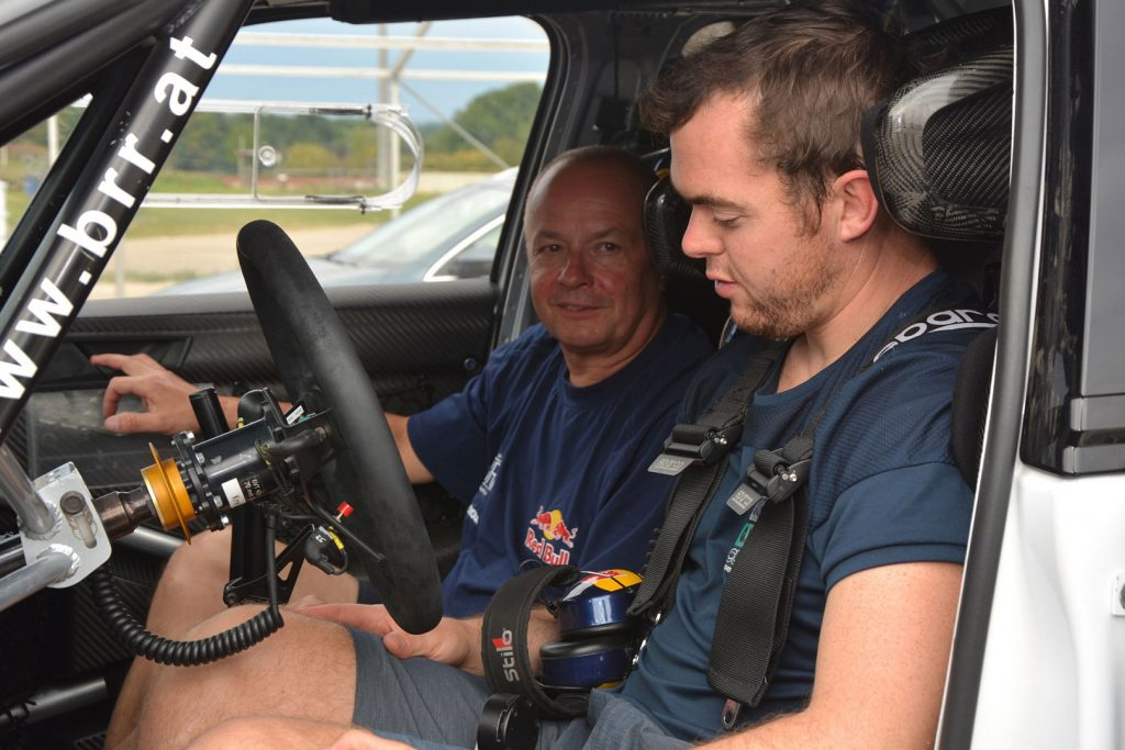 Matthias Walkner / Raimund Baumschlager, ŠKODA FABIA R5, BRR Baumschlager Rallye & Racing Team. Testování 2017 (Foto: Harald Illmer)