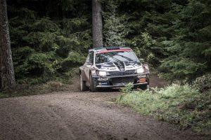Lars Stugemo / Kalle Lexe, ŠKODA FABIA R5, Sunnyside Experience. East Sweden Rally 2017 (Foto: Fredrik Värnebjörk)