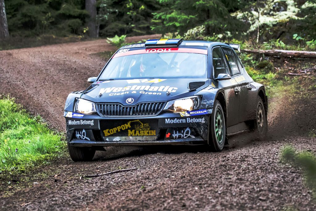 Pontus Tidemand / Jonas Andersson, ŠKODA FABIA R5. East Sweden Rally 2017 (Photo: Fredrik Värnebjörk)