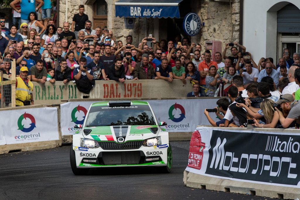 Umberto Scandola / Guido D'Amore, ŠKODA FABIA R5, Car Racing. Rally di Roma Capitale 2017
