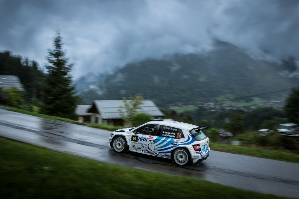 Michel Giraldo / Méryl Giraldo, ŠKODA FABIA R5. Rallye Mont-Blanc Morzine 2017